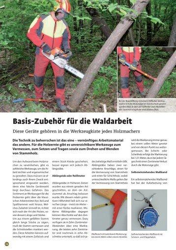 Basis-Zubehör für die Waldarbeit - Kwf