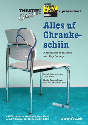 Theater-Gazette - Freie Bühne Uster