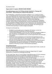 Umweltbelastungen durch die VTS Koop Schiefer GmbH & Co