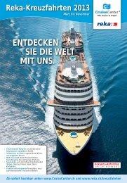 ENTDECKEN SIE DIE WELT MIT UNS. - Cruisecenter AG