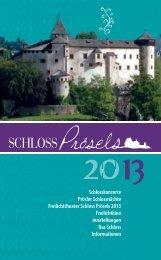 Jahresprogramm 2013 als PDF - Schloss Prösels