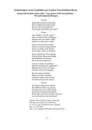 Anmerkungen zu drei Gedichten aus Goethes West-östlichem Divan ...