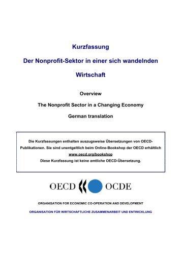 Kurzfassung Der Nonprofit-Sektor in einer sich ... - OECD iLibrary