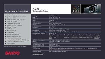 PLV-Z3 Technische Daten