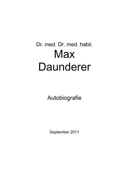 Max Daunderer ToxCenter e.V.