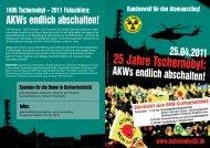 Flyer 25 Jahre Tschernobyl