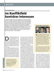 Im Konfliktfeld konträrer Interessen - Vertriebsrecht.de