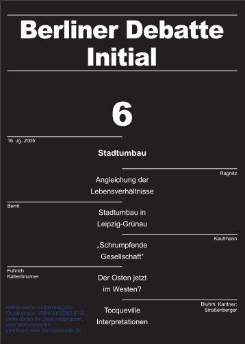 Stadtumbau - Linksreformismus