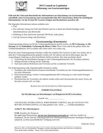 2013 Council on Legislation Abfassung von Gesetzesanträgen ...