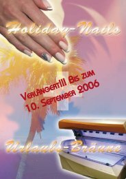 Holiday-Nails Sommerferien 2006 Flyer - Younique-Nailfashion