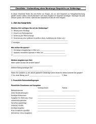 Checkliste, auszufüllen vor der Anlageberatung
