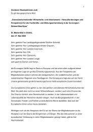 freigegebenes Grußwort StM Jurk - Oberlausitz