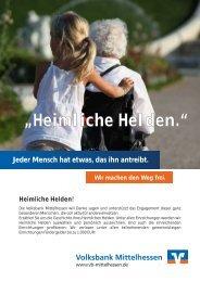 """""""Heimliche Helden."""" - Volksbank Mittelhessen eG"""