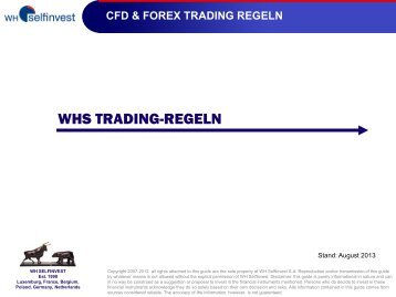 WHS TRADING-REGELN - WH SelfInvest