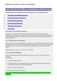 Infoblatt der Agentur für Arbeit zur Gleichstellung