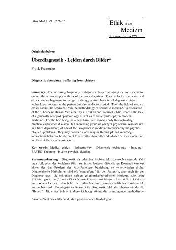 1990 Überdiagnostik - Leiden durch Bilder ... - Frank Praetorius