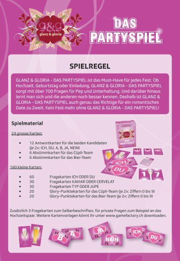 SPIELREGEL - in der gamefactory!