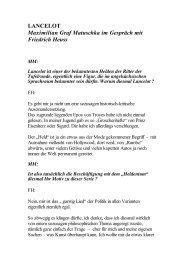 LANCELOT Maximilian Graf Matuschka im ... - Friedrich Heuss