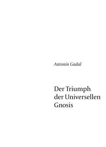 Der Triumph der Universellen Gnosis - Bibliotheca Philosophica ...