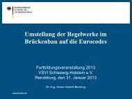 Umstellung der Regelwerke im Brückenbau - Vsvi-sh.de