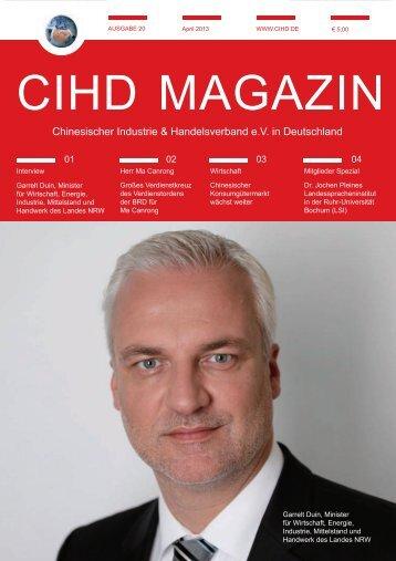 CIHD Magazin 20 04/2013 - Chinesischer Industrie- und ...