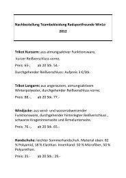Nachbestellung Teambekleidung Radsportfreunde WinLo 2012 ...