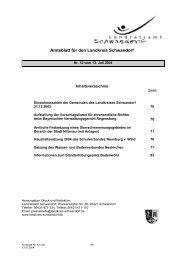 Verordnung - Landkreis Schwandorf
