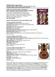 Pressetext DVD 3 - Legends der Lippmann und Rau Festivals auf ...