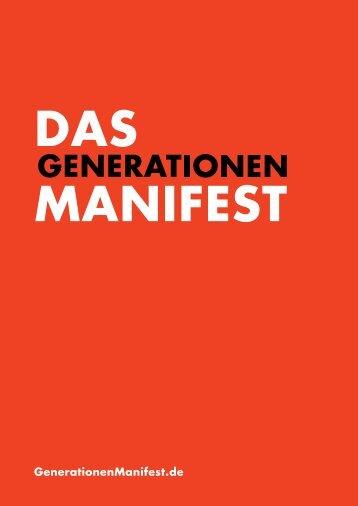 Download - Das Generationen-Manifest 2013