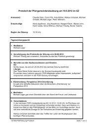 Protokoll der konstituierenden Pfarrgemeinderatssitzung am 01