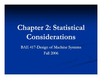 Chapter 2: Statistical Considerations