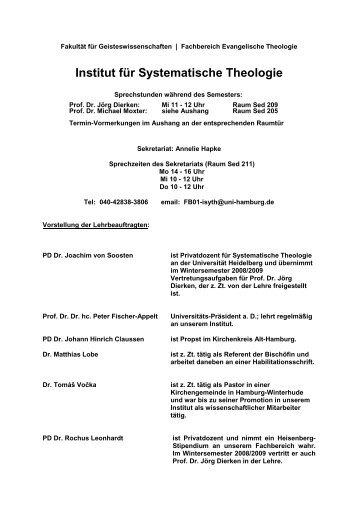 WS 08/09 – Systematische Theologie - Fachbereich Evangelische ...