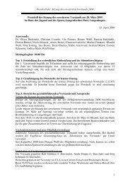 Protokoll der Sitzung des erweiterten Vorstands 2009 1 Protokoll der ...