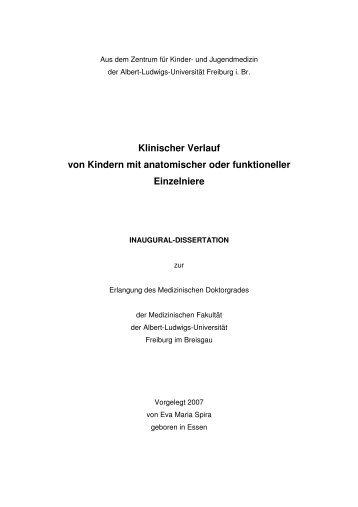 Elektronische Publikation der Dissertation Eva Maria Spira\374