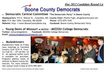 """""""The Democratic Party"""" in Boone County Headquarters: 912 E ..."""