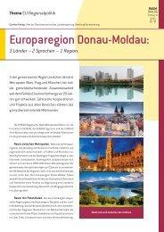 3 Länder - 2 Sprachen - 1 Region - Europaregion Donau-Moldau
