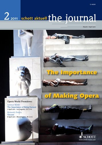 The Importance of Making Opera - Schott Music