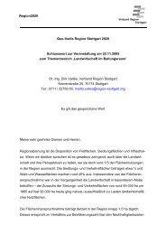 Region2020 Quo-Vadis Region Stuttgart 2020 Schlusswort zur ...