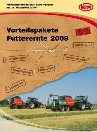Vorteilspakete Futterernte 2009 - Kverneland