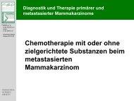 Chemotherapie mit oder ohne zielgerichtete Substanzen beim ...