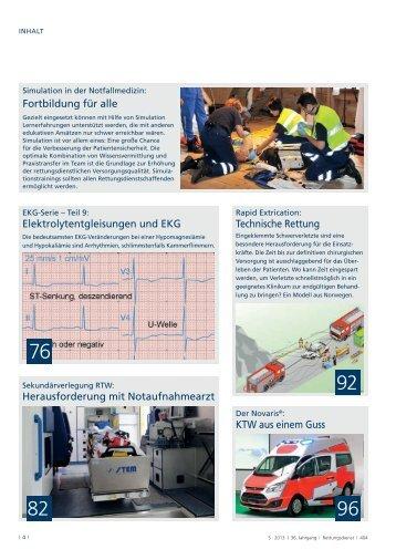 Elektrolytentgleisungen und EKG Technische Rettung Fortbildung ...