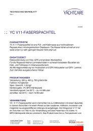 YC V11-FASERSPACHTEL - Waage