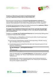 Einreichen des Projektfortschrittsberichtes als ... - Polen 2007-2013
