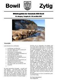 Bowil-Zytig Nr. 124 vom März 2007