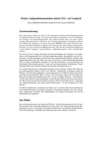 Präzise Anlagendokumentation mittels TLS - ein Vergleich - MplusM