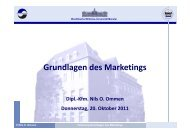Grundlagen des Marketings