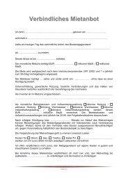Vermietung Verbindliches Mietanbot - CAPTURA Immobilien