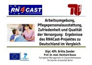 Ergebnisse des RN4Cast-Projektes zu Deutschland im Vergleich (PDF