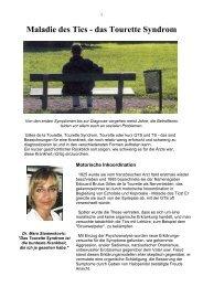 Maladie des Tics - Gilles de la Tourette Syndrom - Homepage ...