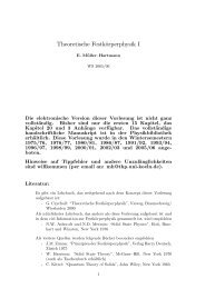 Theoretische Festkörperphysik I